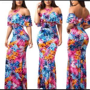 US WOMEN, Floral Long Maxi Dress